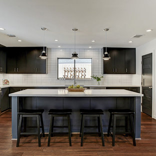 75 Beautiful Bamboo Floor Kitchen With Black Cabinets Pictures
