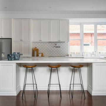 Gardenvale Project Hamptons style shaker style kitchen