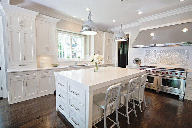 Transitional Kitchen by Oakley Home Builders