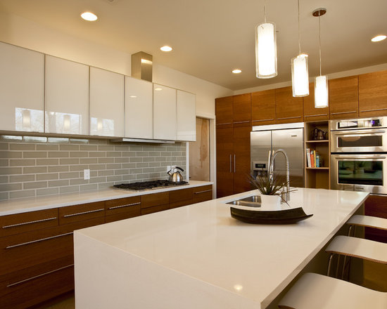 Modern Cherry Kitchen Cabinets modern cherry kitchen cabinets | houzz