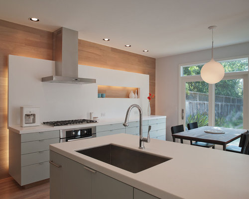 Inspiration For A Modern Eat In Kitchen Remodel In Austin With A Single Bowl