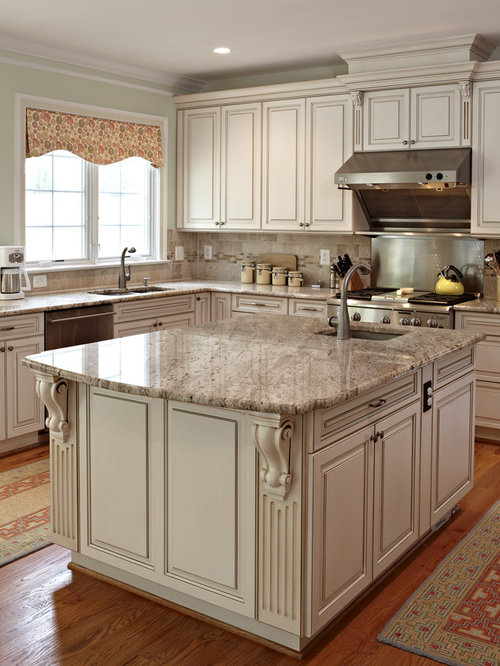 Granite overhang corbels houzz for Granite countertop overhang