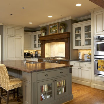 Mixed Color Cabinets · Paint And Glaze Home Design Ideas, Pictures, Remodel and Decor