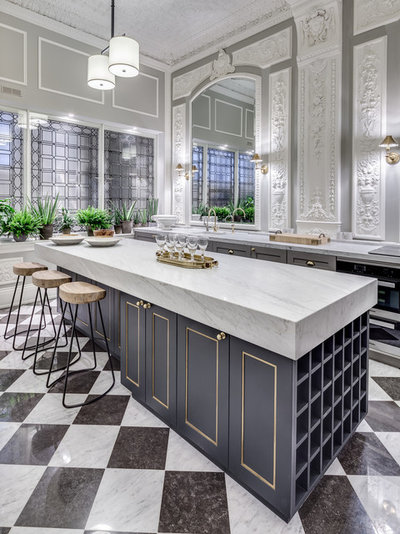 Transitional Kitchen by Barlow & Barlow Design