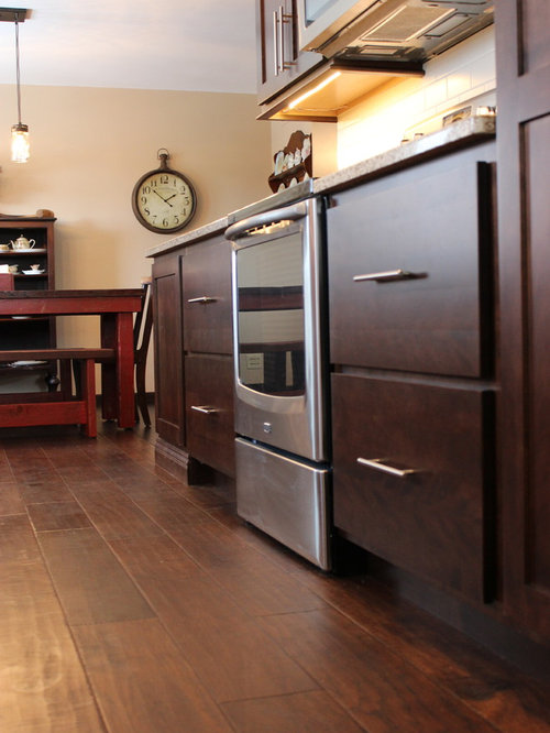 Geneseo il birch kitchen with drop zone bench for Kitchen drop zone ideas