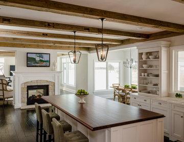 Geneva Family Home Featuring Barn Wood Beams