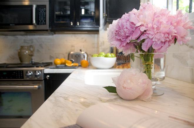 Transitional Kitchen by Zoe Feldman Design, Inc.