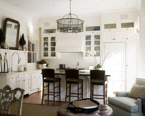 Benjamin moore linen white houzz for Benjamin moore oxford white kitchen cabinets