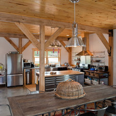 Contemporary Kitchen by Sand Creek Post & Beam