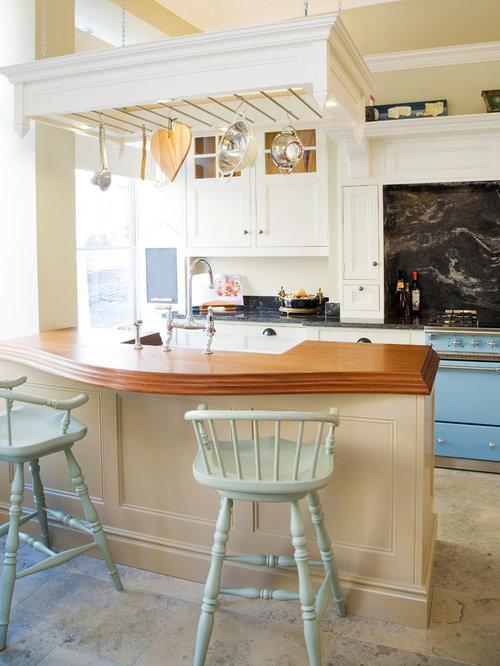 Crackled glass vessel sink kitchen design ideas for Coloured sinks kitchens