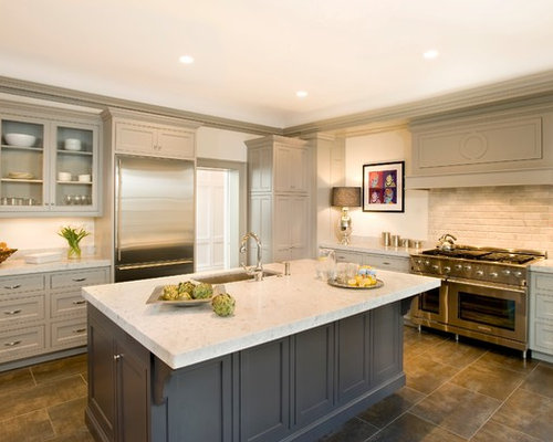 Gray Kitchen Cabinets | Houzz