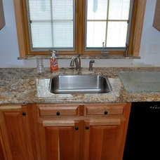 Traditional Kitchen by TZ Granite & Materials LLC