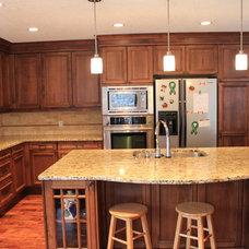 Traditional Kitchen by Laporte Custom Stone Inc.