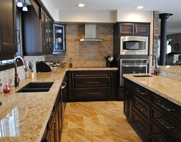 Traditional Kitchen by Bella Terra Stone