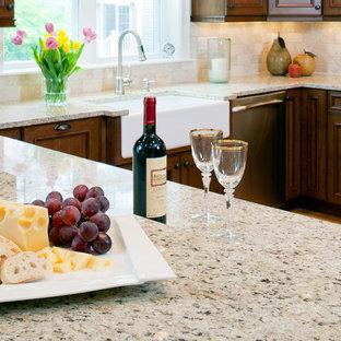 Immagine di una cucina minimalista