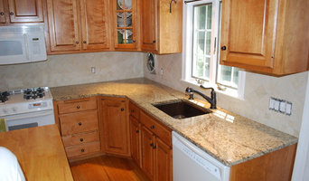Giallo Ornimental countertop and tile backsplash