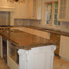 Traditional Kitchen by Jersey Granite