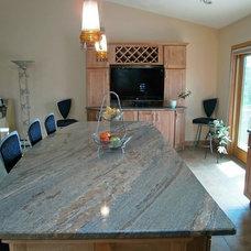 Contemporary Kitchen by Creative Stone Countertops Inc.