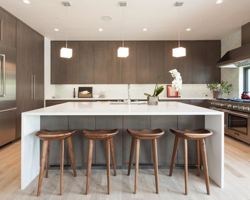 Best Modern Brown Kitchen Design Ideas & Remodel Pictures | Houzz