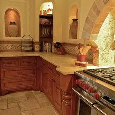 Mediterranean Kitchen by Betsy Rotunno Design