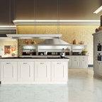 Kitchen backsplash using floral tile scrolls medallions for Casa classica porcelain tile