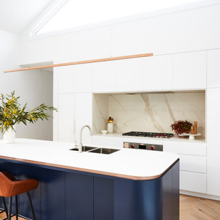 This is an example of a scandinavian kitchen in Sydney.