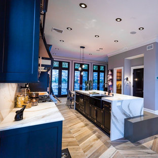 Glamorous High Contrast Kitchen with Mixed Metal Tones