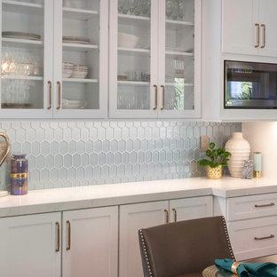 Glamour White Shaker Carlsbad Kitchen Remodel