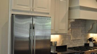 Glass and White Kitchen