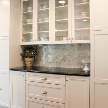 Glass Cabinets and Floor to Ceiling Pantry Cabinets