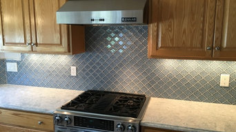 Glass Crackle Backsplash