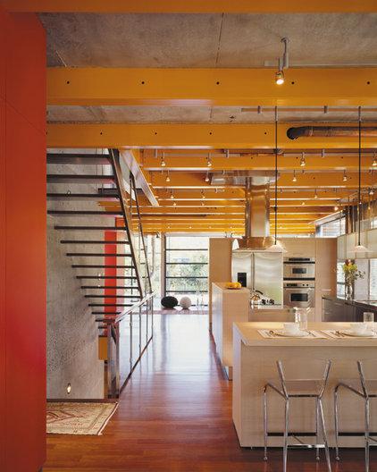 Industrial Kitchen by Thomas Roszak Architecture, LLC
