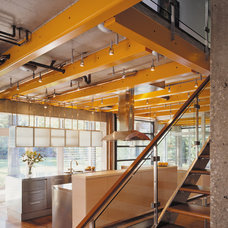 Industrial Kitchen by Thomas Roszak Architecture, LLC