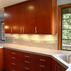 Contemporary Kitchen by Marin Designworks Glass Tile Design & Waterjet Art