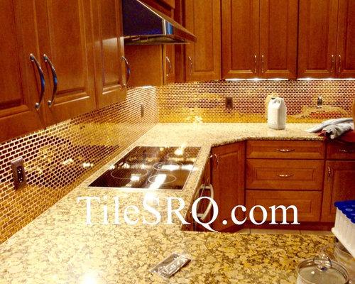 Venice FL Tile Contractor Installed This Glass Tile Kitchen - Backsplash installation contractors