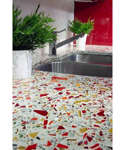 Traditional Kitchen by Glass Recycled Surfaces