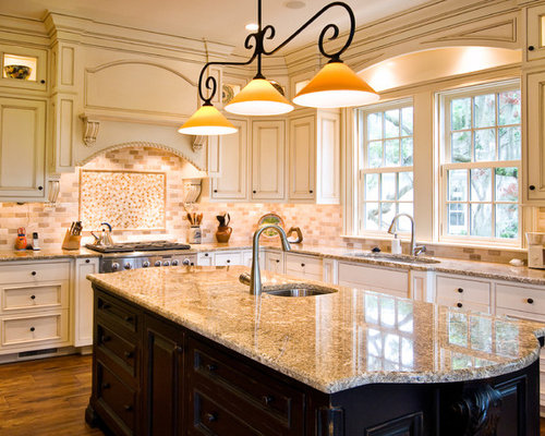 White Glazed Cabinets Home Design Ideas, Pictures, Remodel and Decor