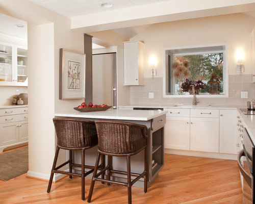 Small Kitchen Peninsula Ideas, Pictures, Remodel and Decor