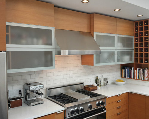 Example Of A Trendy Kitchen Design In San Francisco With Subway Tile  Backsplash, Flat