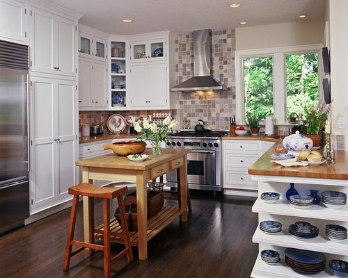 ... for a timeless kitchen remodel in Cleveland with wood countertops