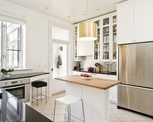 White Kitchen Cabinets With Black Countertops white cabinets with black countertops | houzz