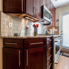 Small Townhouse Kitchen Traditional Kitchen Other
