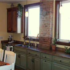 Eclectic Kitchen by Roanoke Woodworking Inc.