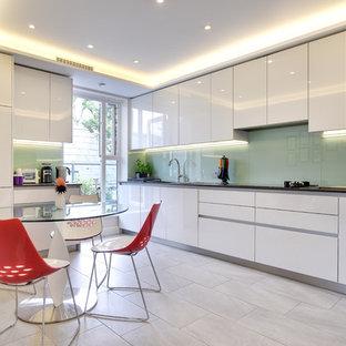 Glossy Light Grey Schuller Kitchen