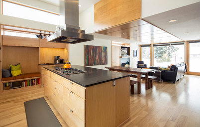 Room of the Day: Light-Toned Wood Connects a Bright New Great Room