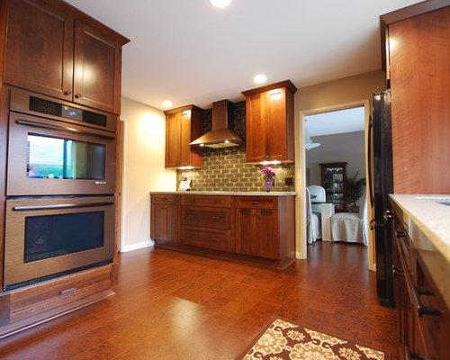 Modern Kitchen Idea In Sacramento With An Undermount Sink, Recessed Panel  Cabinets, Medium