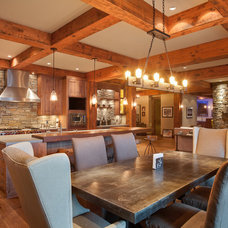 Rustic Dining Room by Norelco Cabinets Ltd