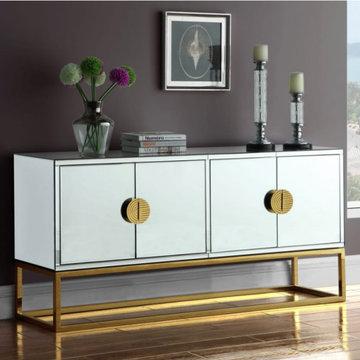 Gold Wood Sideboard Buffet