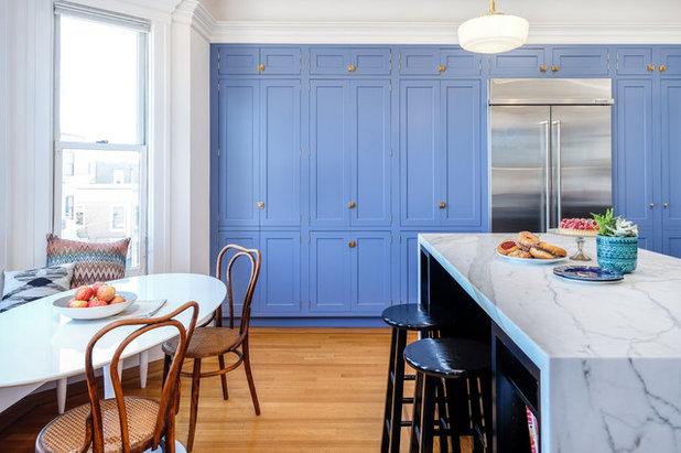 Transitional Kitchen by BLANKwalls Design