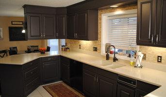 Golden Oak to Espresso Brown Cabinet